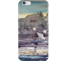 """Whitby Harbour at Twilight"" iPhone Case/Skin"