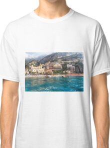 Positano Beach From the Sea Classic T-Shirt