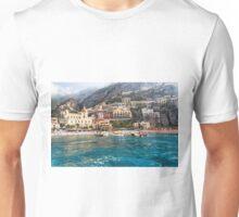 Positano Beach From the Sea Unisex T-Shirt