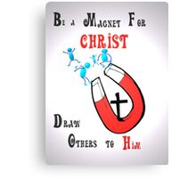 Magnet  For Christ tee Canvas Print
