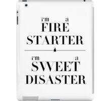 fire starter // sweet disaster iPad Case/Skin