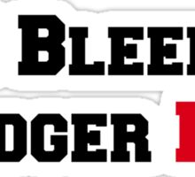 I Bleed Badger Red Sticker