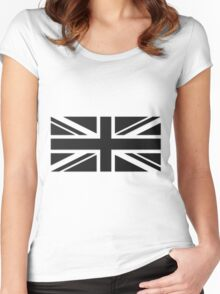 Union Jack (white) Women's Fitted Scoop T-Shirt