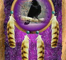 Raven Totem Shield by Jan Landers