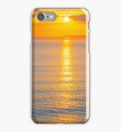 beautiful panoramic yellow sunset over loop head iPhone Case/Skin