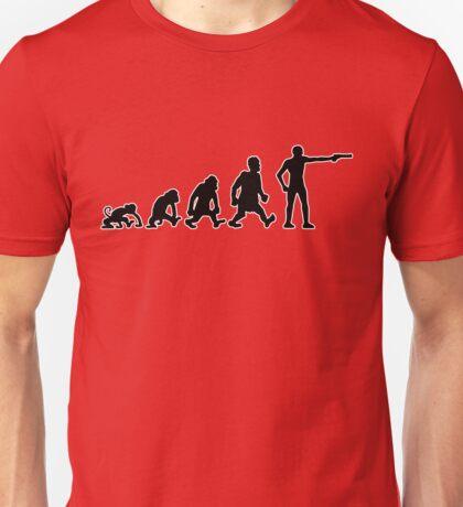 shooting Sports evolution darwin gun pistol Unisex T-Shirt