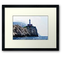 Amalfi Coast Lighthouse Framed Print