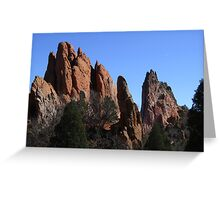 South Gateway Rock, Sentinal Rock, and Gray Rock, Garden of the Gods, Colorado Springs, CO 2009 Greeting Card