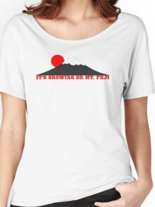 It's Snowing On Mt. Fuji Women's Relaxed Fit T-Shirt