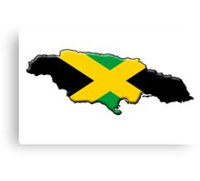 Jamaica flag and outline Canvas Print