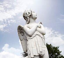 angel statue in a kilkenny graveyard by morrbyte