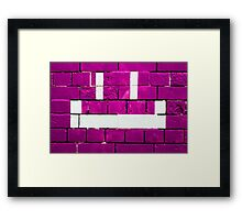 Bricks & Smiles Framed Print
