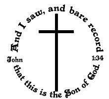JOHN 1:34 circular by Calgacus