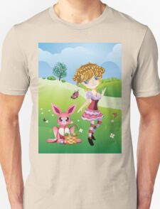 Easter Bunny and Girl T-Shirt