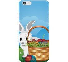 Easter Bunny with Eggs in the Basket 2 iPhone Case/Skin