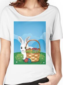 Easter Bunny with Eggs in the Basket 2 Women's Relaxed Fit T-Shirt
