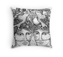 Gemini for colour backgrounds Throw Pillow
