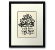 Gemini for colour backgrounds Framed Print