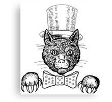 Tophat Cat Canvas Print