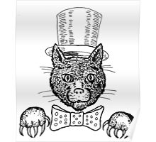 Tophat Cat Poster