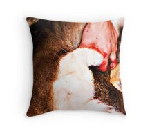 Butchered Throw Pillow
