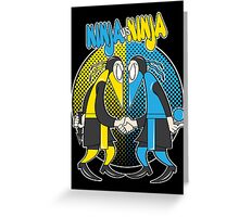 Ninja VS Ninja Greeting Card