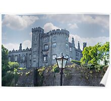 antique street lamp and castle view Poster