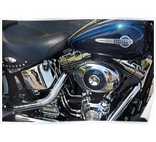 The Motorcycle as Art: Heritage Softail > Poster