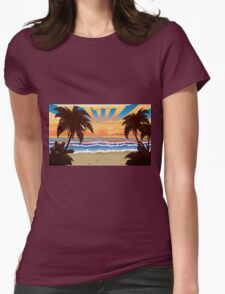 Sunset on beach  T-Shirt