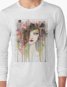 Secrets - Gypsy Woman - Modern Art Portrait - Fantasy Painting by Molly Harrison Long Sleeve T-Shirt