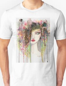 Secrets - Gypsy Woman - Modern Art Portrait - Fantasy Painting by Molly Harrison T-Shirt