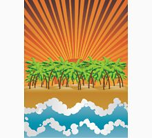Sunset on tropical beach 3 Unisex T-Shirt