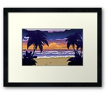 Sunset on beach 2 Framed Print