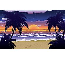 Sunset on beach 2 Photographic Print