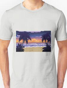 Sunset on beach 2 Unisex T-Shirt
