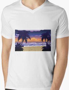Sunset on beach 2 Mens V-Neck T-Shirt