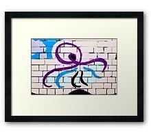 Brick & Octopus  Framed Print