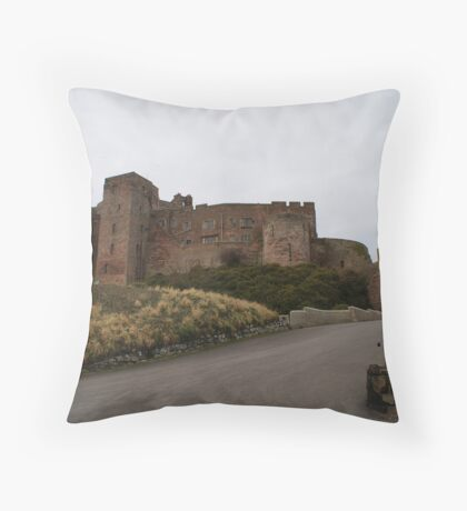 Bamburgh Castle, Northumberland Throw Pillow