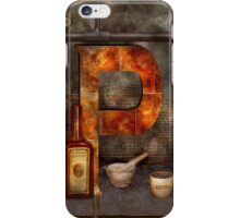 Steampunk - Alphabet - P is for Pharmacy iPhone Case/Skin
