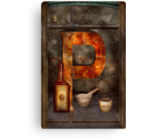 Steampunk - Alphabet - P is for Pharmacy Canvas Print
