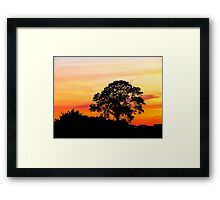 Across The Borderline Framed Print