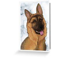 German Shepherd Card Greeting Card