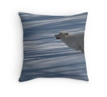 Puppy Launch Throw Pillow