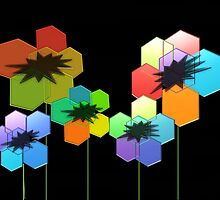 Geometric Poppies by Darlene Lankford Honeycutt