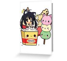Kawaii Food - Azunyan Greeting Card