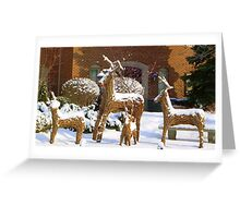 DEER CROSSING.................. A Family......... Greeting Card