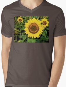SunFlower Mens V-Neck T-Shirt