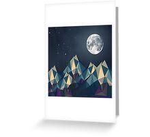 Night Mountains No. 1 Greeting Card