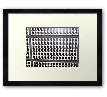 tiles sherlock Framed Print