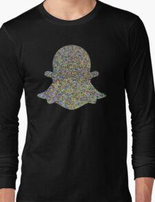 Hologram Glitter Snapchat Emoji Internet Tumblr Instagram Logo Long Sleeve T-Shirt